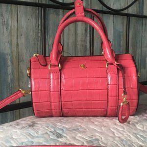 Ralph Lauren Zoey Small Zip Top Satchel Bag